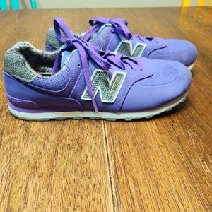 Purple & grey New Balance running shoes